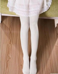Ballet Tights White 7038