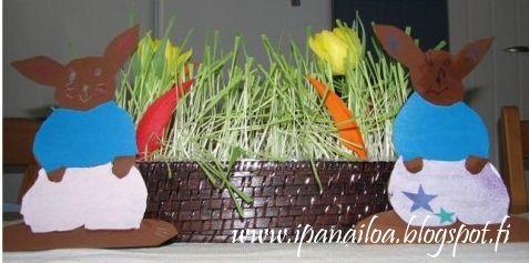 askartelua: eläimet, pupu, kani, jänis  http://ipanaaskartelua.blogspot.fi/2009/07/paasiaispupu.html