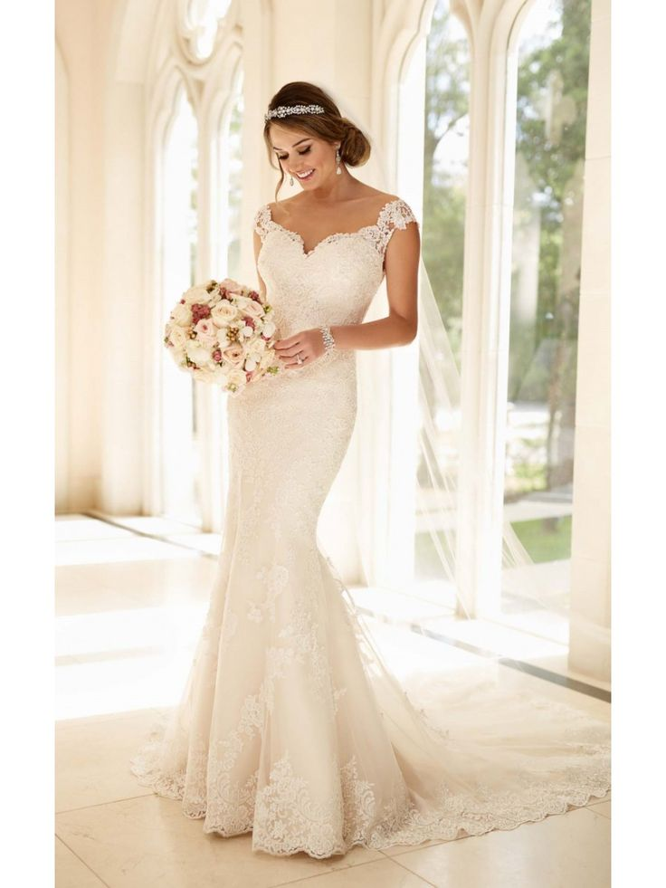 Modest Pop Sale Trumpet/Mermaid Off-the-Shoulder Lace Wedding Dresses Bridal Gowns 3301177