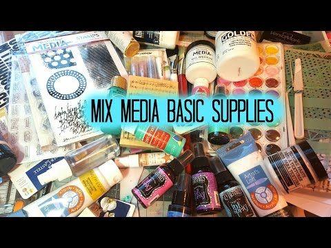 Mix Media Basic Supplies - YouTube