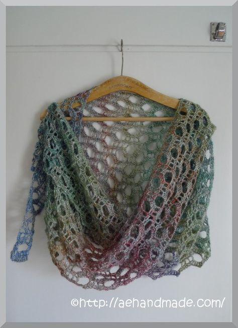 Virka en sjal. I boken som jag köpte i USA fanns en fin sjal ... b6641b26282dc