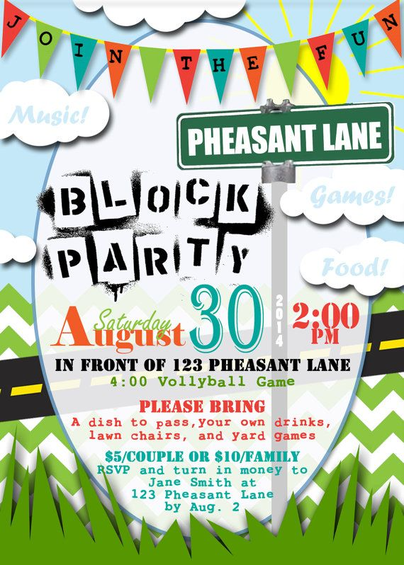 Best 25+ Block party invites ideas on Pinterest Neighborhood - picnic flyer template