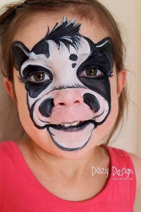 Las 25 mejores ideas sobre pinturas de cara de vaca en - Pintura cara halloween ...