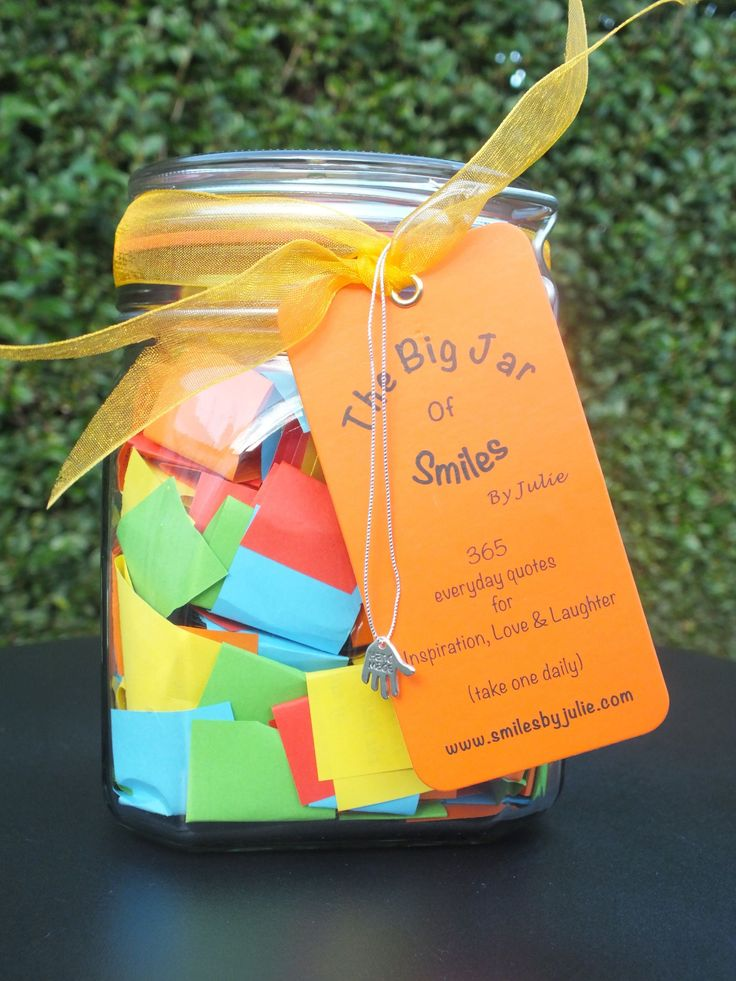 365 Quotes in a Jar -  Start Every Day with aSmile - 'Love & Friendship' or 'Success & Inspiration' .......Search for 'Quotes in a Jar' on Amazon