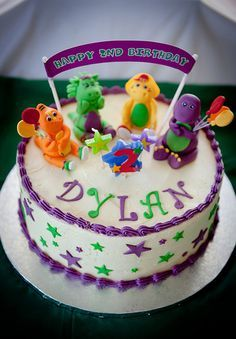 homemade barney birthday cake - Google Search