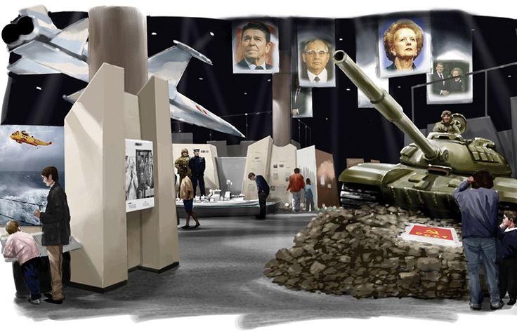 Cold War rendering, Permanent Exhibitions, Canadian War Museum,  Exhibit Design by: Origin Studios Inc.
