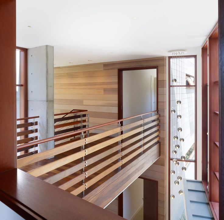Great Wooden Handrails Ideas : Indoor Bridge And Railings Design Using Wood