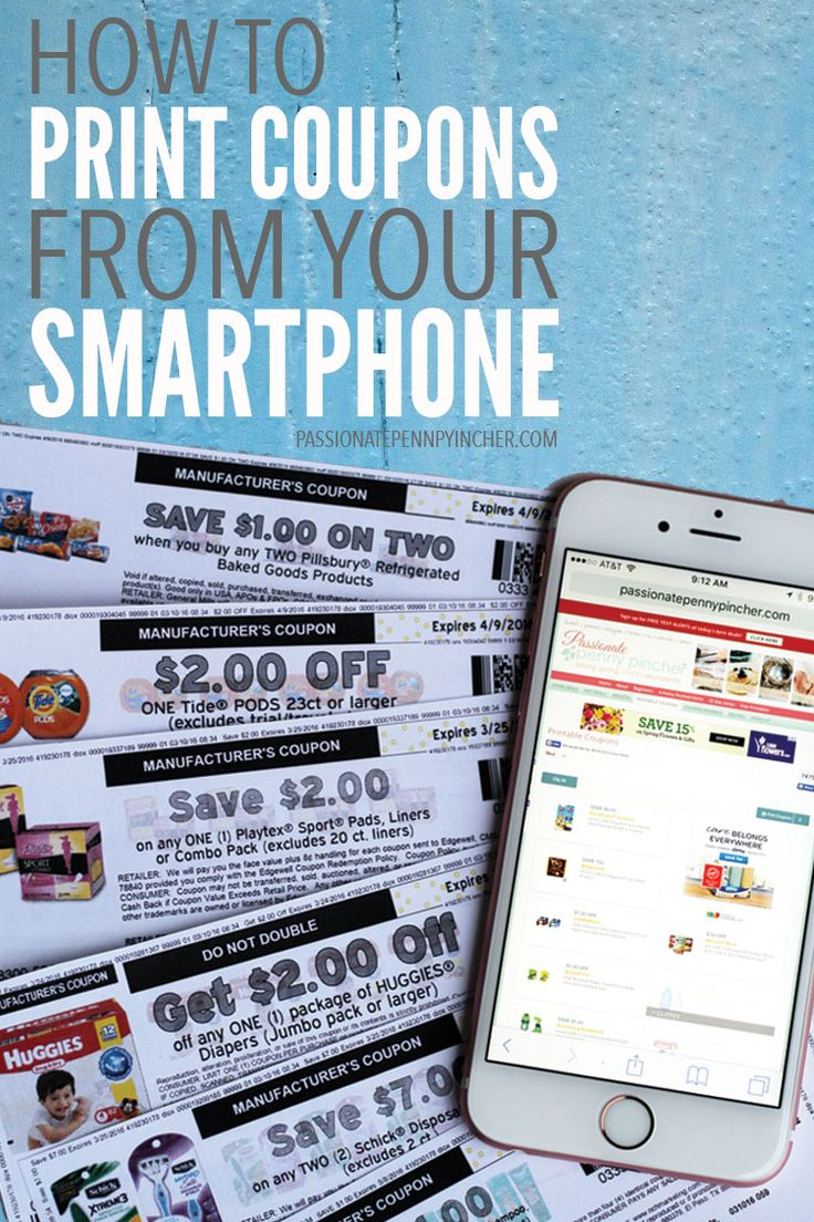 How To Print Coupons From Your Phone. Passionate Penny Pincher is the #1 source printable & online coupons! Get your promo codes or coupons & save.