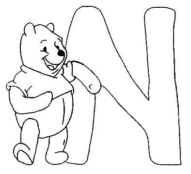 Coloring pages winnie the pooh alphabet 14