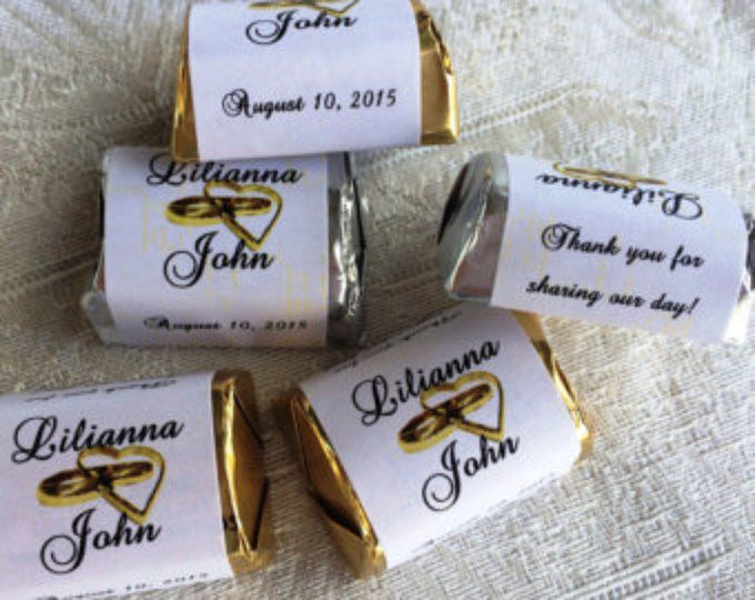 120  ENGAGEMENT PARTY WEDDING CANDY WRAPPERS FAVORS