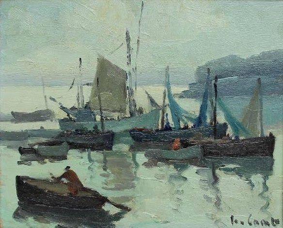 Jo.Coat 1897-1969  Barques au port du Rosmeur