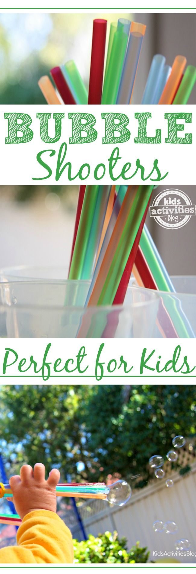 So simple for kids to make. These bubble shooters are the perfect summer.