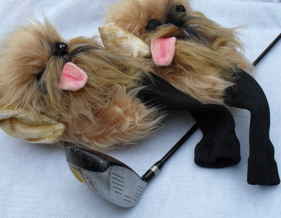 Brussels griffon Golf club head cover Custom by Puppetsinabag , dog , headcover , golfer gift