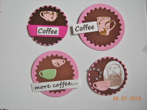 Handmade coffee tags by CraftRain on Etsy