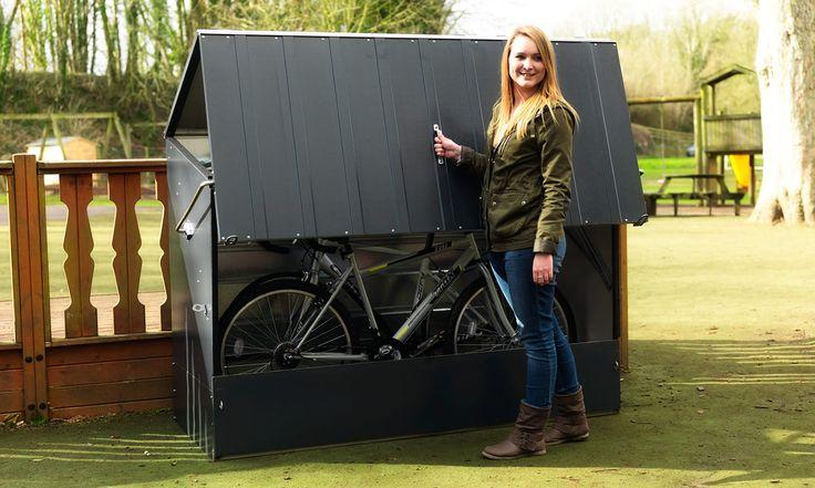 $14.500    Guarda Bicicletas de Acero recubierto en PVC para Exteriores Marca Trimetals - Unicos en el mercado Argentino. Gtia 20 años de sus paneles. Los precios no incluyen IVA.