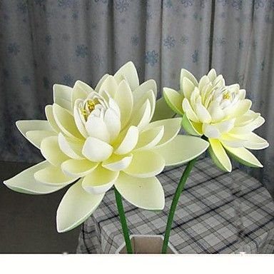 16 cm Diameter Simulation of Open Lotus Flower with Rod, Set of 2 – USD $ 9.99