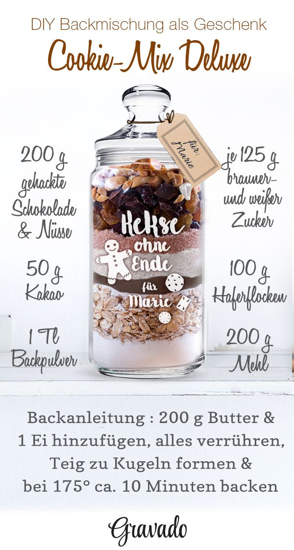 Keksglas mit Gravur – Kekse ohne Ende – Personalisiert – Gravado – Personalisierte Geschenke: Geburtstag, Weihnachten, Hochzeit, Taufe & vieles mehr!