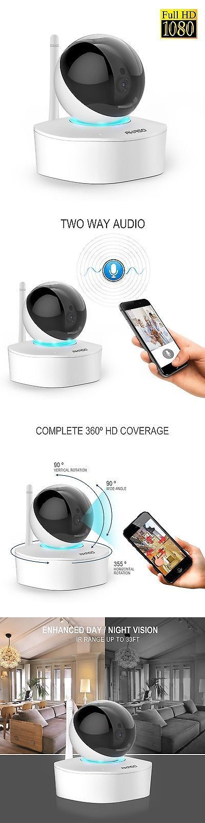 Security Cameras: Akaso 2Mp 1080P Hd Wireless Wifi Ip Security Camera  Indoor Home Surveillance .