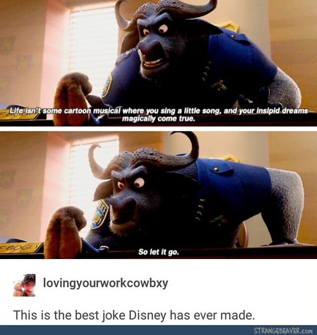 Finally someone got it!!! No one believed me!!! Zootopia