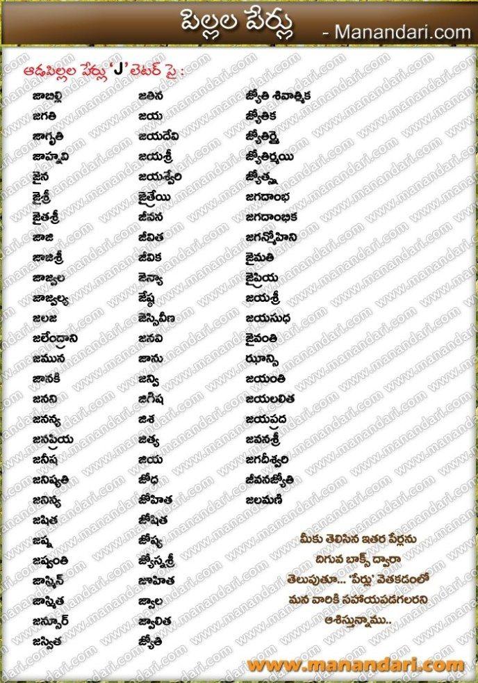 Baby Boy Names Starting With Ka In Telugu : names, starting, telugu, Names, Starting