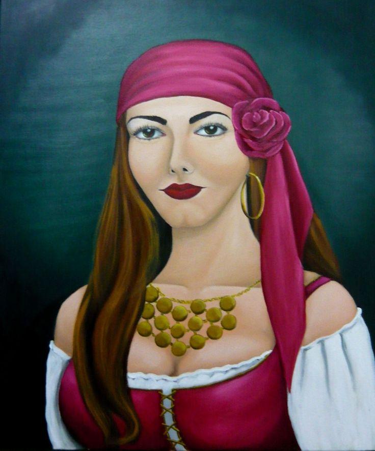 Cigana Carmem - Óleo sobre Tela