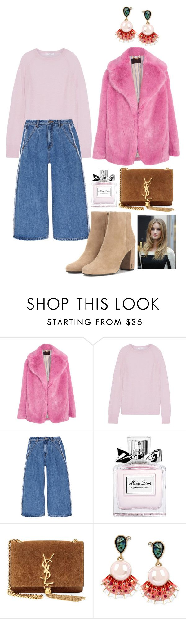 """""""Untitled #29"""" by megan-adam ❤ liked on Polyvore featuring J.Crew, Equipment, Steve J & Yoni P, Christian Dior, Yves Saint Laurent, Whiteley and Betsey Johnson"""