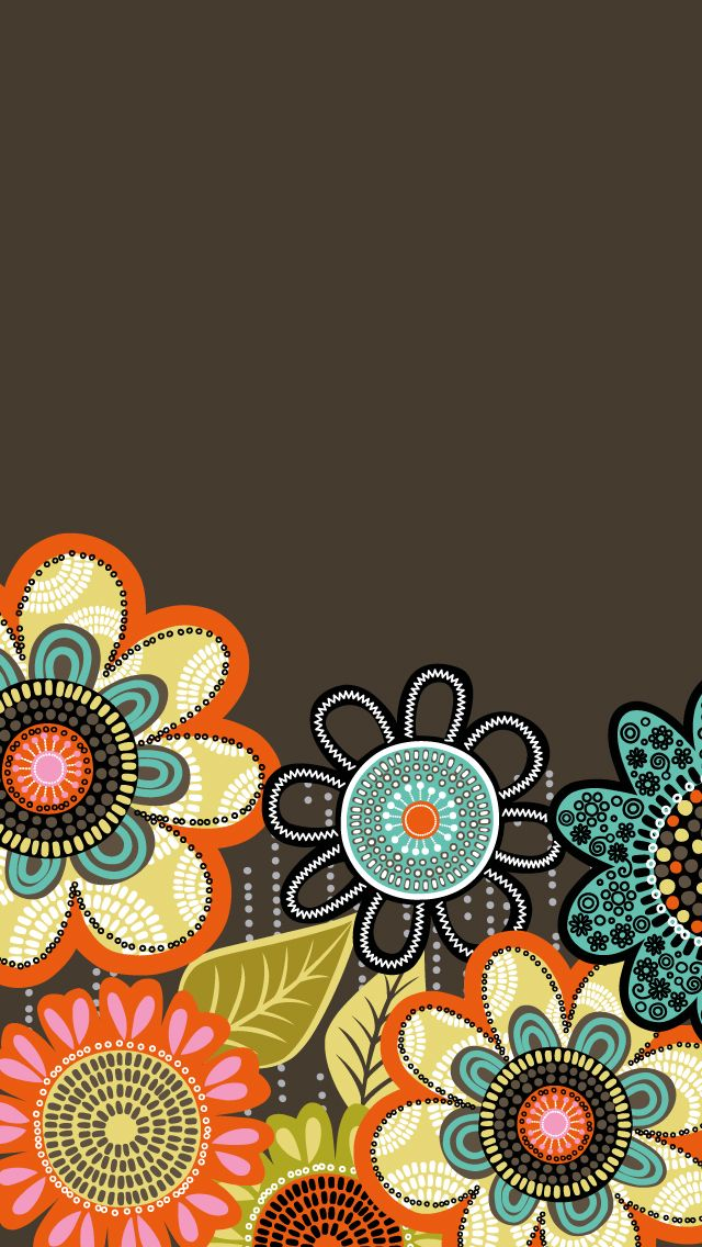 Dress your tech: Flower Shower Mobile Wallpaper | Vera Bradley