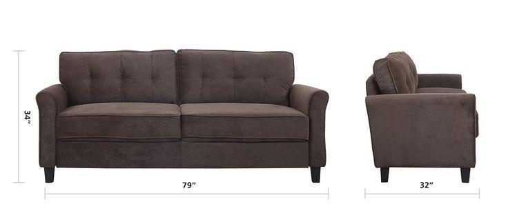 Divano Roma Furniture Classic Ultra Comfortable Brush