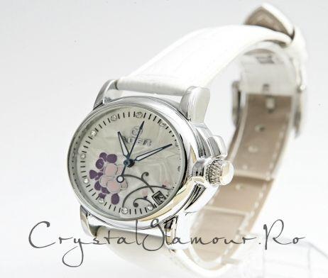 Ceas dama Goer Purple Rose  http://www.crystalglamour.ro/  tel. 0727 48 48 48