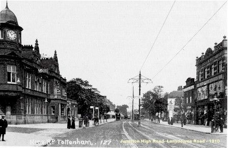 High Road and Lansdowne Road, Tottenham, London