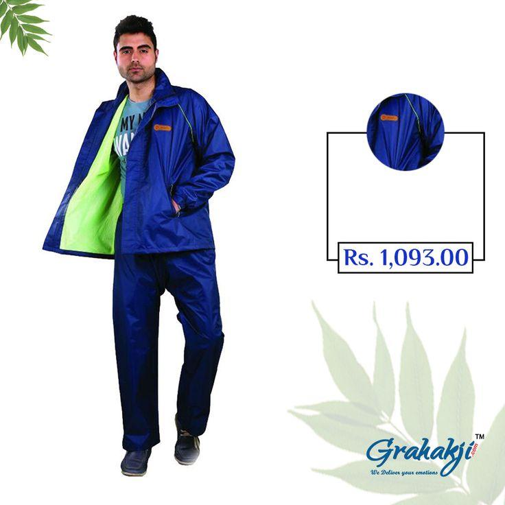 Mens Reversible Polonet lining Rain Suit #RainSuit #RainCoat #RainCoatForMen #Online #Shopping #Grahakji