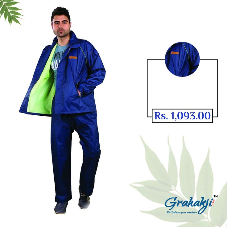 Mens Reversible Polonet lining Rain Suit #RainSuit #RainCoat #RainCoatForMen #Online #Shopping #Grahakji