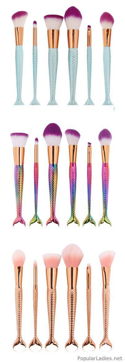 Lovely mermaid brush sets
