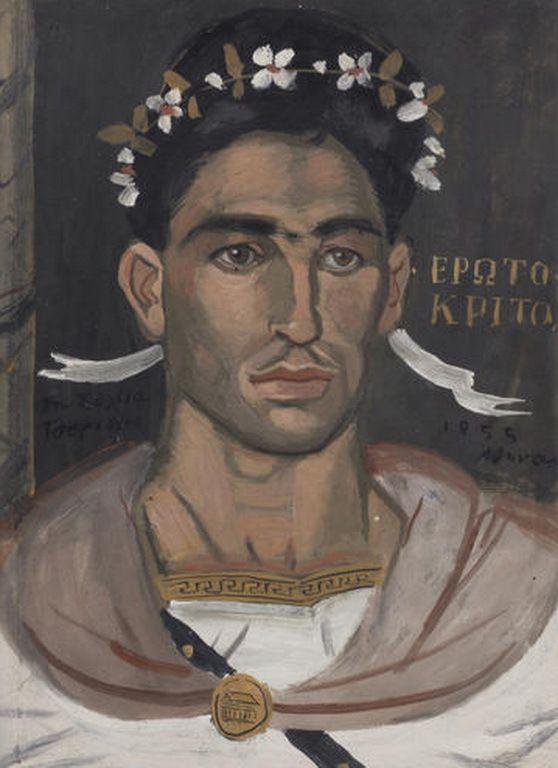 Τσαρούχης Γιάννης-Erotokritos, 1955 – Yannis Tsarouchis [1910-1989] | paletaart – Χρώμα & Φώς
