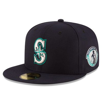 10193c2055d Ken Griffey Jr. Seattle Mariners New Era Retirement Patch 59FIFTY Fitted Hat  - Navy in 2018