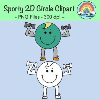 - Free Download -Sporty 2D Circle Clipart. Included in this download are 2 graphics.PNG files at 300 dpi for clear, crisp printing with transparent backgrounds. ~ Rainbow Sky Creations ~