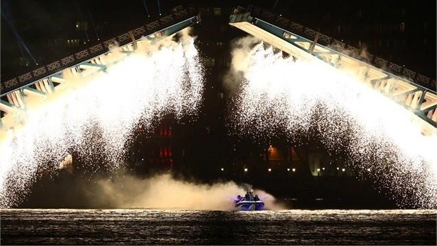 Fireworks light up Tower Bridge