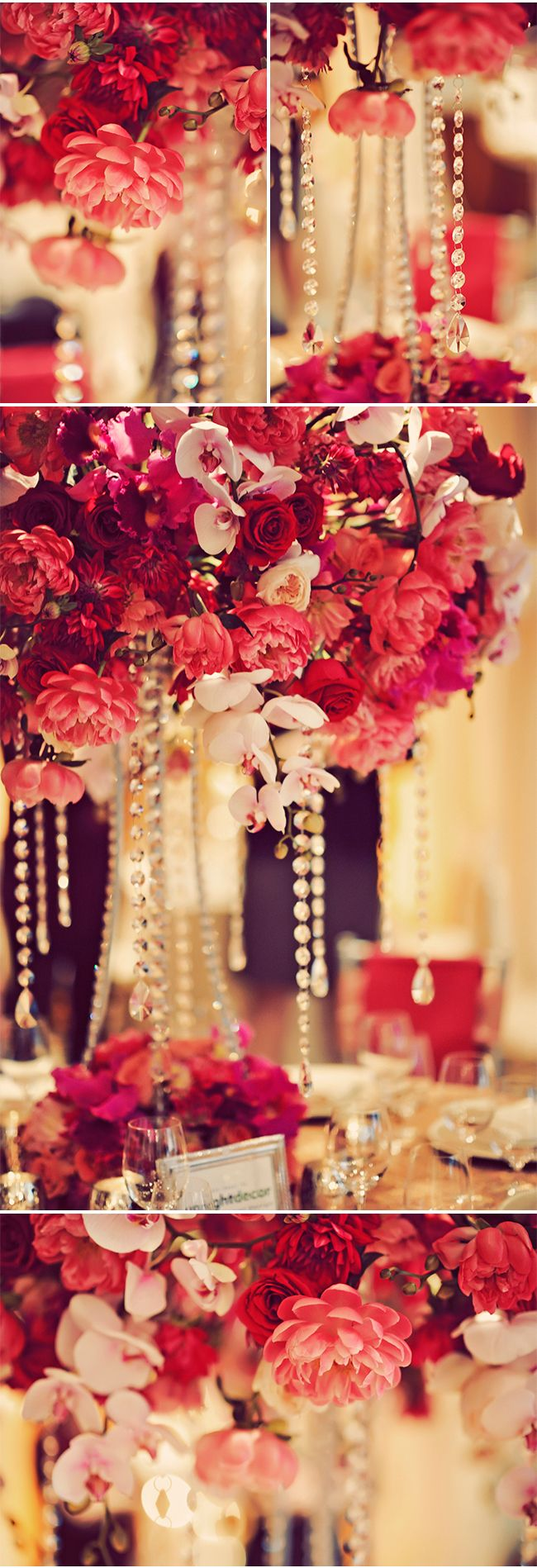 1009 best centerpieces images on pinterest wedding centerpieces red and pink blooms dripping in crystals creme de la creme a bridal show junglespirit Gallery