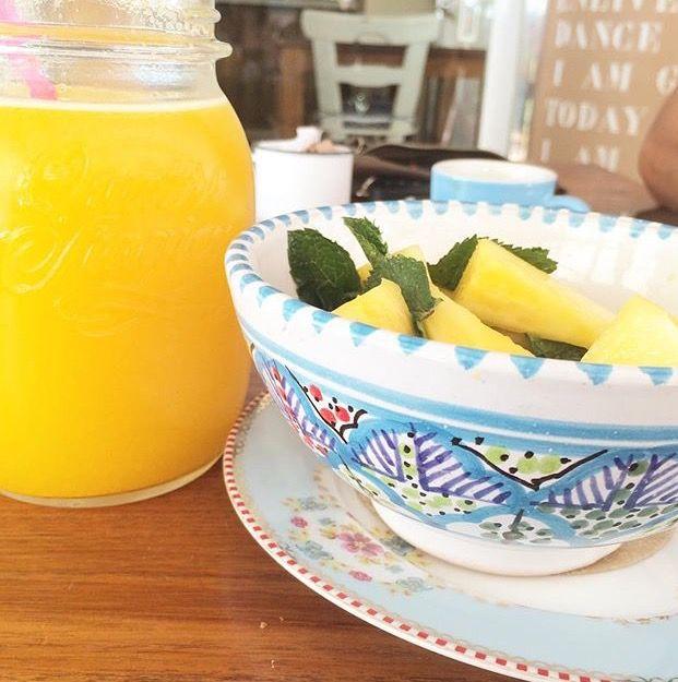 Ananas e menta