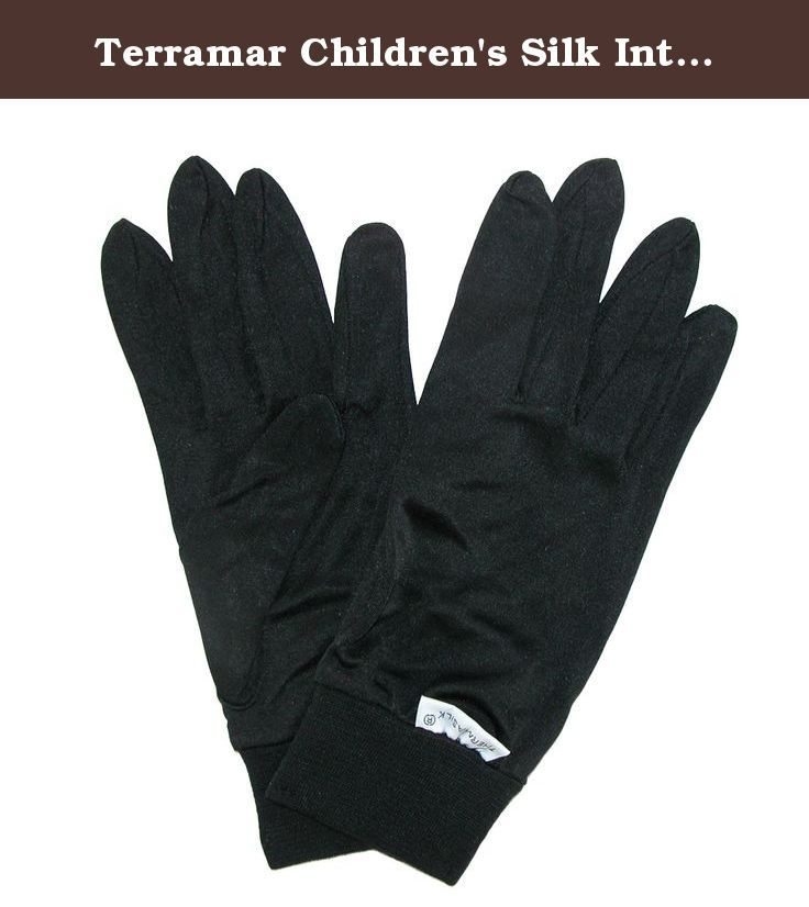 Terramar Children's Silk Interlock Glove Liner,Black,US S. These glove liners are naturally incredibly soft, warm, breathable and extremely lightweight. A perfect solution for cold weather uses, the ThermaSilk glove liners will ensure your hands stay dry, warm and comfortable in all outdoor adventure activities. The liners are constructed out of 100% silk that have an electrostatic process that allows for moisture movement without the garment touching the skin (better than wicking) and an...