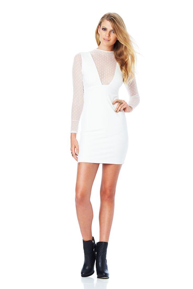 WINK LS BODYCON (White) #nookie#nw14