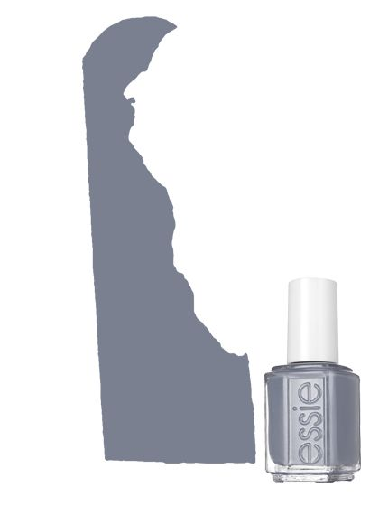 The Most Popular Nail-Polish Color in Delaware: Gray -  Essie nail polish in Petal Pushers | allure.com