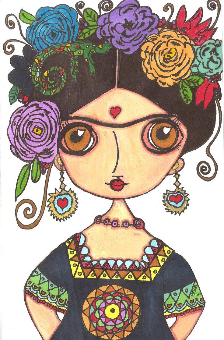 """épinglé par ❃❀CM❁✿⊱╮""""Frida"""" #byBeVag © & ℗ produced byBeVag™"""