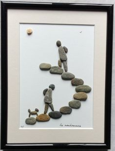 Hikers - pebble art. Les randonneurs от artdugaletherve на Etsy