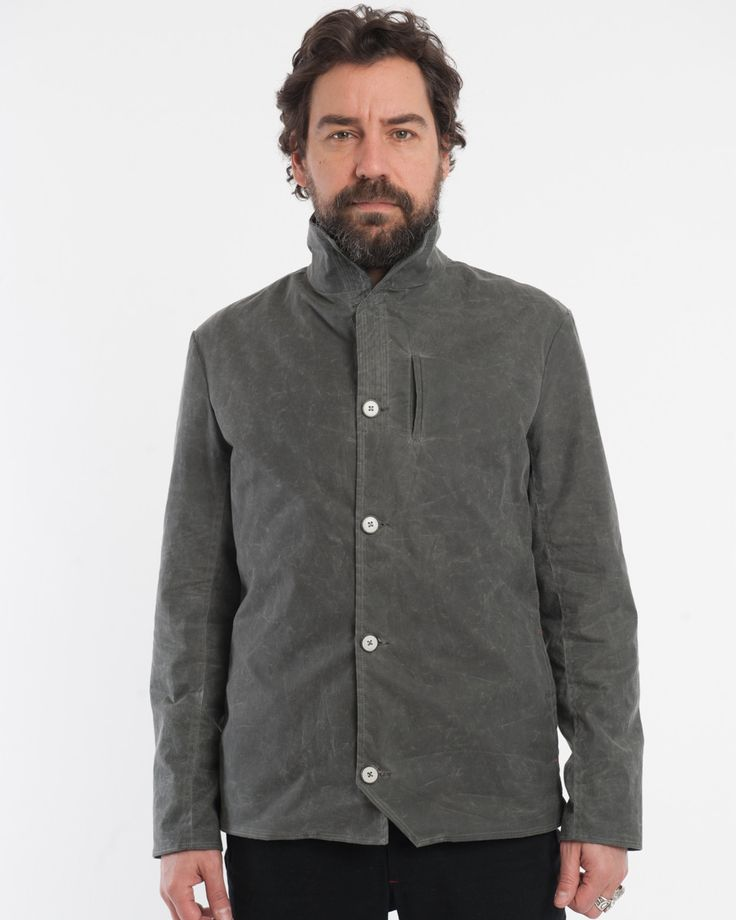 The Bowie Baumer | Charcoal Waxed Cotton