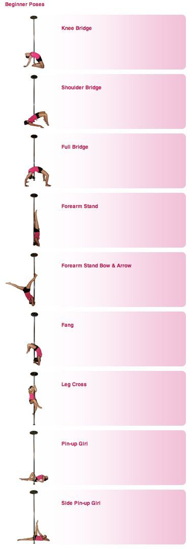 Pole FitnessTraining - beginner poses