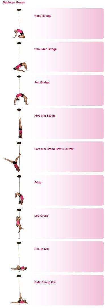 Pole FitnessTraining - beginner poses