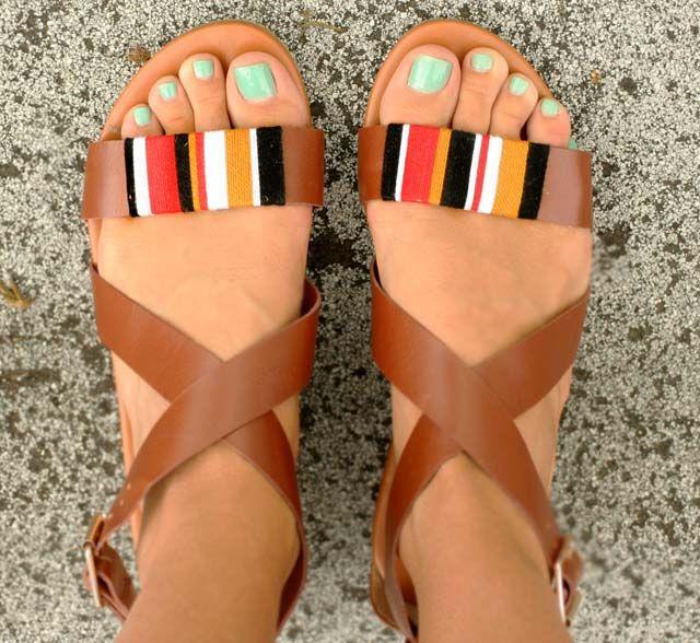 shoes: Shoes, Tribal Wrap, Style, Diy'S, Wrap Sandals, Diy Sandal, Wrapped Sandal, Spy Diy, I Spy