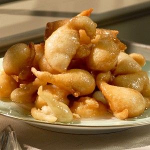 Zalabia. opular in Egypt and throughout the Middle East, these puffy fritters are soaked in syrup colored red or yellow to symbolize joy, and sprinkled with cinnamon or sugar. #Recipes #Hanukkah #Ideas