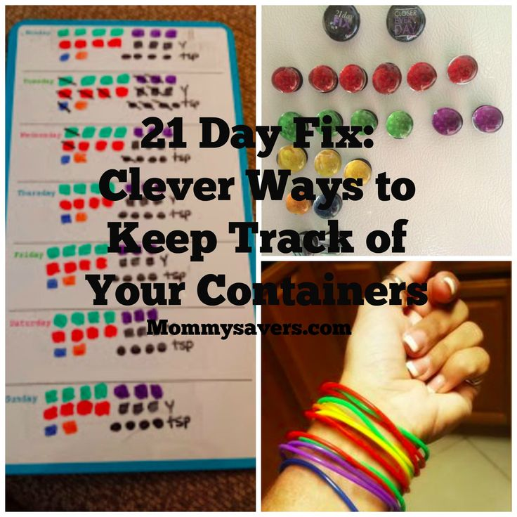 21 Day Fix:  Clever Ways to Keep Track of Your Colored Container Counts
